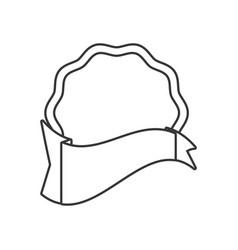 outlined label sticker emblem vector image vector image