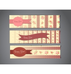 tree vintage banners vector image vector image