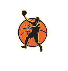 Basketball Player Lay Up Ball vector image vector image