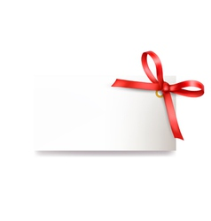 Card with red bow vector