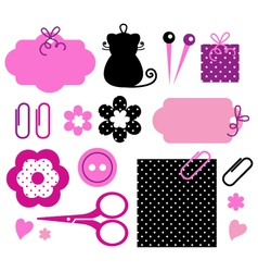 Design elements for handmade fashion vector image vector image