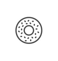 donut line icon vector image
