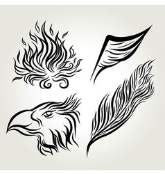 Eagle Wing Hand Drawing vector image vector image