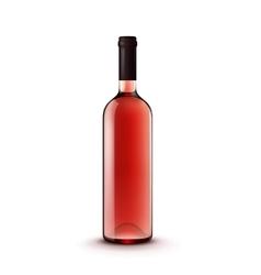 Glass Wine Bottle vector image vector image
