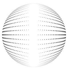 halftone globe vector image vector image