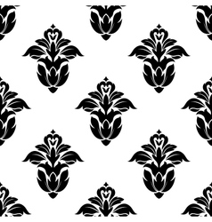 Seamless pattern of floral motifs vector image