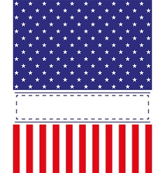 US Independence Day card vector image