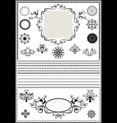collection luxury borders and circular ornaments vector image vector image