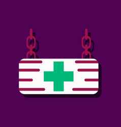 Flat icon design collection medical sign in vector
