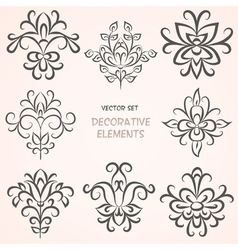 Floral decorative ethnic elements vector image vector image