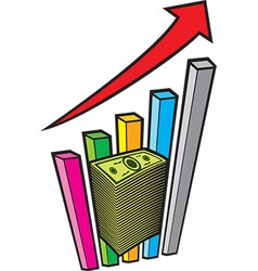 Positive Business Graph vector image vector image