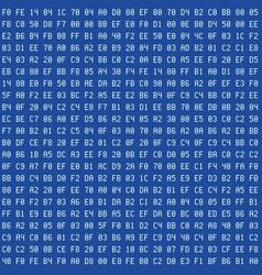 computer blue screen hexadecimal code seamless vector image vector image