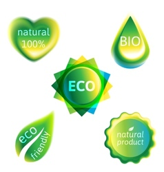 ecology labels set vector image