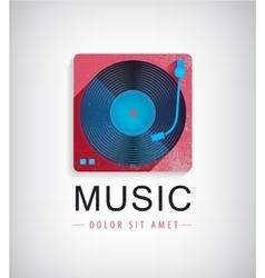 retro music logo icon vector image vector image