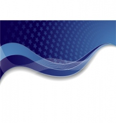 vector blue template with star vector image vector image