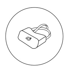 virtual reality glasses icon in outline style vector image vector image