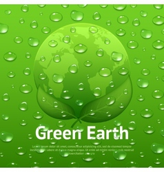 Water Drops Eco Poster vector image