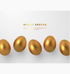 3d metallic golden eggs vector image