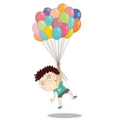 a boy with balloons vector image