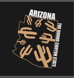 Arizona apparel print vector