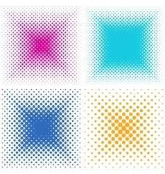 Backgrounds collection with halftone effect vector image