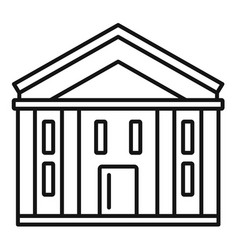 bank courthouse icon outline style vector image