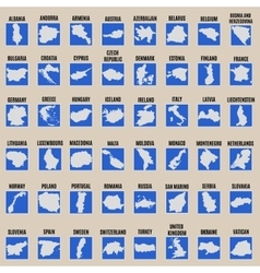 Big set of all Europe states vector
