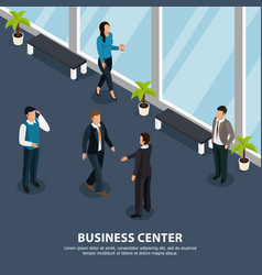business center isometric people vector image