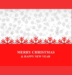 christmas card with snowflakes background vector image