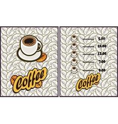 coffee shop design elements vintage vector image