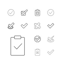 Correct icons vector