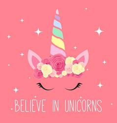 cute unicorn background vector image