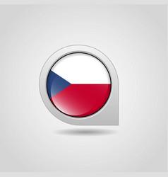 czech republic flag map pin vector image