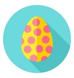 Easter Egg with Circles Decor Circle Icon vector image