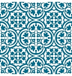 Elegant blue and white pattern vector