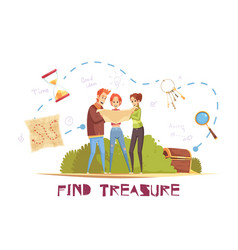Find treasure vector