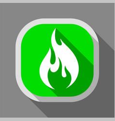 Fire icon square button vector