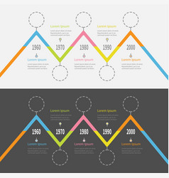 five step timeline infographic set colorful vector image