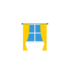 flat icon window element of vector image