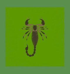 Flat shading style animal scorpio vector
