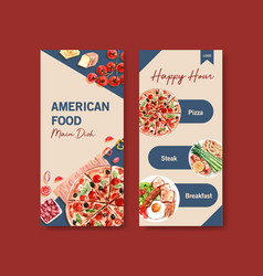 Flyer template with cooking design for brochure vector