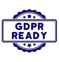 Gdpr ready seal template vector