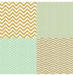 Geometric chevron seamless patterns set Hand drawn vector image