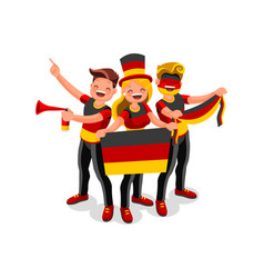 germany flag german people day vector image