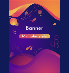 gradient abstract banners with liquid shapes vector image