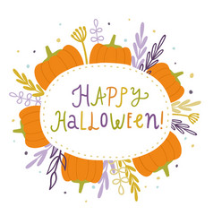 happy halloween cute card vector image