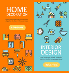 Home decor signs banner vecrtical set vector
