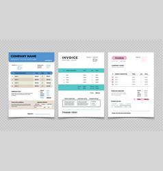 invoice template bill receipt design quotation vector image