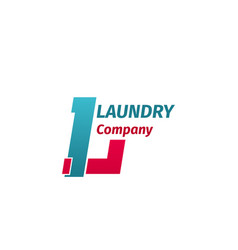 laundry company sign vector image
