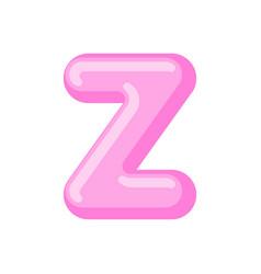 Letter z candy font caramel alphabet lollipop vector